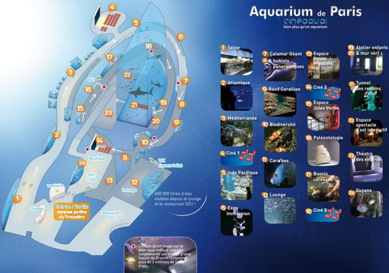 plan aquarium paris